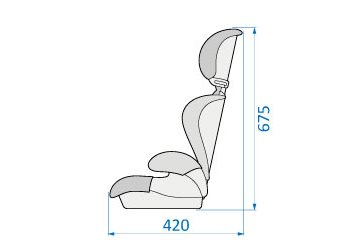 Seat side dimensions
